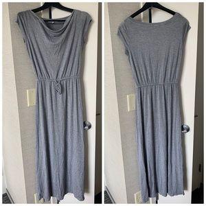 Gap Petite Maxi Dress with Drawstring Waist